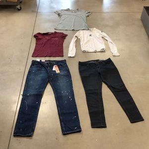 NWT Levi's Jeans plus Nike Abercrombie funpack